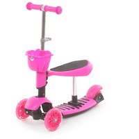 The Flyers Bay 3 In 1 Sit Or Kick  Height Adjustable Scooter For Kids TFB-3in1Pink