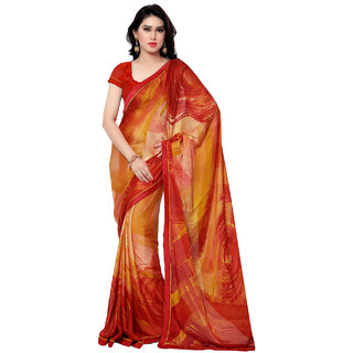 Sareemall Multi Creap Lace Border Saree with Unstitched Blouse 9S5109