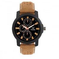 Fogg Analog 1057-BK-BR-Mens Watch