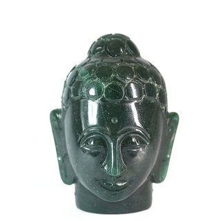 Aum Zone Green Jade Buddha Head