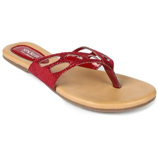 Liberty WomenS Red Casual Slip On Flats (LA-F03-RED)