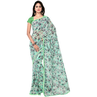 Sareemall Multi Georgette Saree with Unstitched Blouse SGS1011