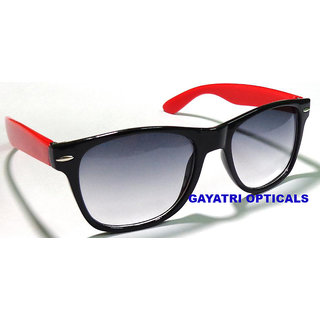 Black-Red Wayfarer Sunglasses