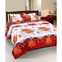 Home Castle Affordable Premium 3D Double Bedsheet with 2 Pillow Covers