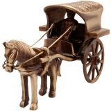 Brass Horse Cart - Medium