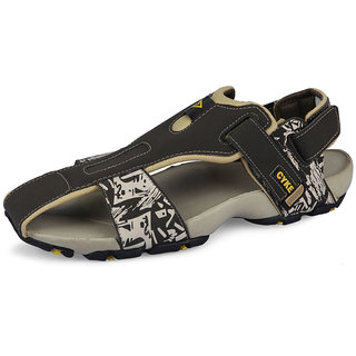 Cyke Olive & Yellow Men's Sandals
