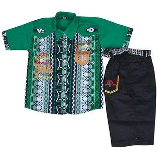Kids dresses baby clothing boys Shirt Shorts combo baba suit