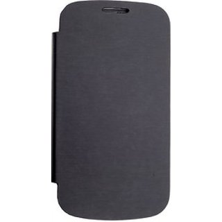 Top Quality Micromax Canvas Fun A76  Flip Cover Black available at ShopClues for Rs.199
