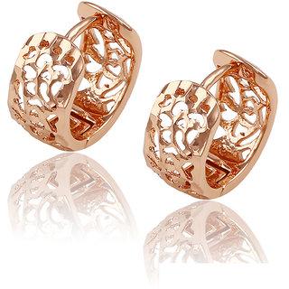 DesiButiks Stunning Rose Gold Color Environmental Copper Earrings JMP435