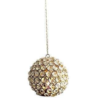 Crystal Iron Ball Hanging Big T - Light by HALF PIZZA ARTS