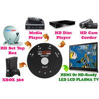 Gadget Hero's 3 Port Mini 1080p HDMI Switcher Splitter Box HDTV, DVD, HD Set Top Box, XBOX, HD Media Player