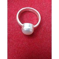 Silver Sucha Moti Ring