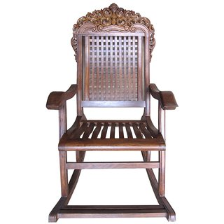 solid wood rocking chair in sheesham wood available at shopclues for