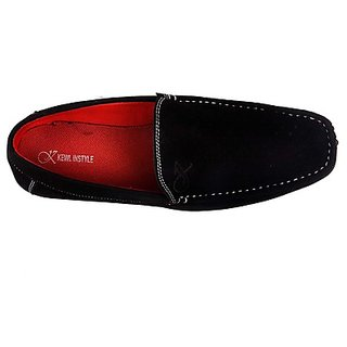 Kewl Instyle Men's Stylish Black Loafer's - Option 1
