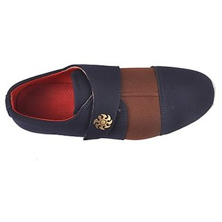 Kewl Instyle Men's Brown & Blue Casual Shoes