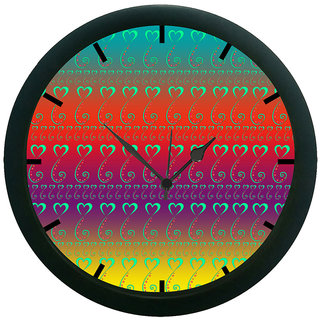 AE World Love Paisley 3D Wall Clock (With Glass)