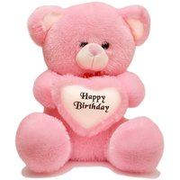 Rushi Enterprise 2 Feet Around With Birthday Heart Stuffed Soft Plush Toy Kids Teddy Bear (Pink)