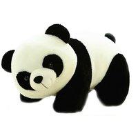 Tickles Panda Stuffed Soft Plush Toy Love Girl 40 cm(Black  White)
