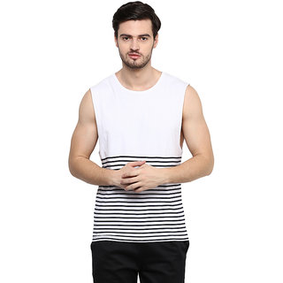 Hypernation Striped Mens Round Neck Muscle T-Shirt
