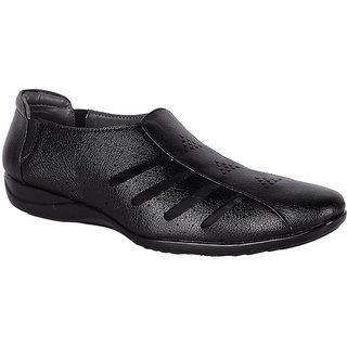 Shoeadda Mens Black Slip On Sandals