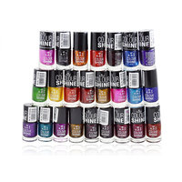 ADS Nail Kit enamel Disco Darkmix With Liner Rubber Band (Set of 1)