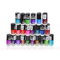 ADS COLOUR SHINE NAIL POLISH ( 24 pieces) With Liner  Rubber Band