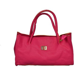 Women Pink Fashionable With Perforated Design Hand Bag