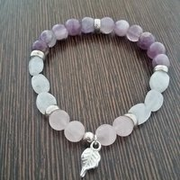 Amethyst, Rose Quartz And Moonstone Bracelet
