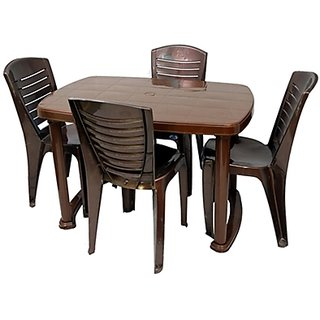 Nilkamal Dining Table With 4 Chair Set Available At ShopClues For