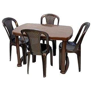 Nilkamal Dining Table With Set Of 4 Chairs Available At ShopClues For