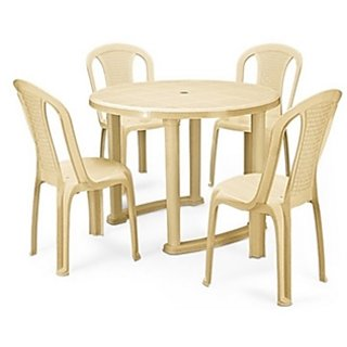 Nilkamal Round Dining Table With 4 Chair Set Available At ShopClues For