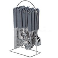 24 Pcs Cutlery Set With Steel Stand