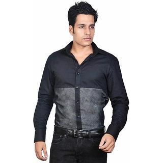 Dazzio Men's Black Lounge Wear Shirt - Option 1