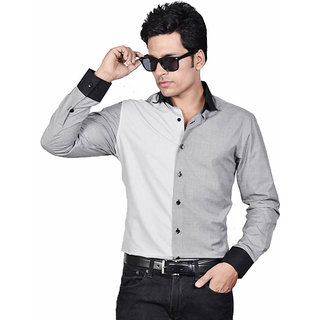 Dazzio Men's Black Smart Casual Shirt - Option 4