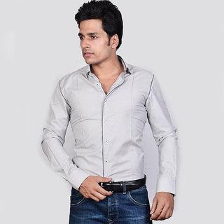 Dazzio Men's Grey Lounge Wear Shirt