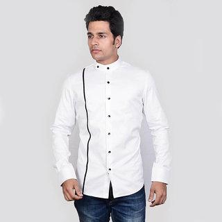Dazzio Men's White Club Wear Shirt