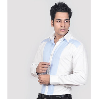 Dazzio Men's White Smart Casual Shirt - Option 10