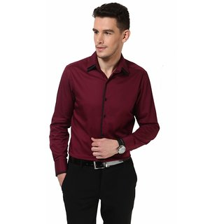 Dazzio Men's Maroon Club Wear Shirt