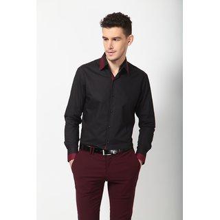 Dazzio Men's Stylish Black Club Wear Shirt