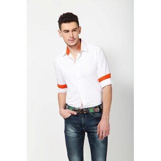 Dazzio Men's White Smart Casual Shirt - Option 11