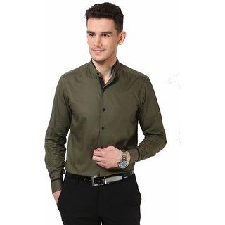Dazzio Men's Khaki Smart Casual Shirt