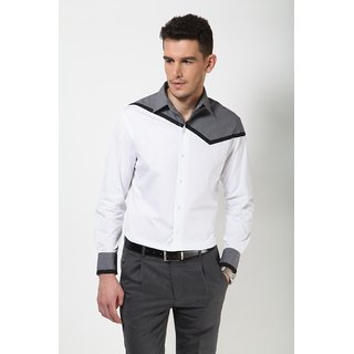 Dazzio Men's White Smart Casual Shirt - Option 13