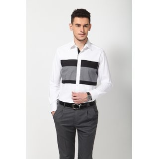 Dazzio Men's White Smart Casual Shirt - Option 14