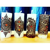 Henna Art Work Candle