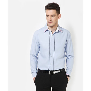 Dazzio Men's Sky Blue Smart Casual Shirt