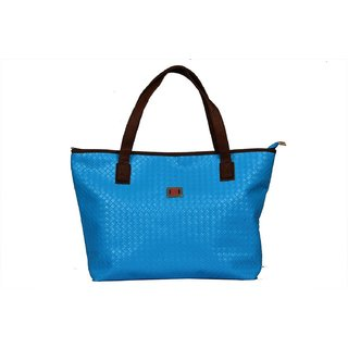 Designer, Imported PU Leather Shoulder  Hand Bag For Women Blue