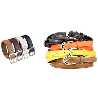 Pack of 4 Leatherite Belt For Mens - Pack Of 4 With Casual Stylish Ladies Multi Belts