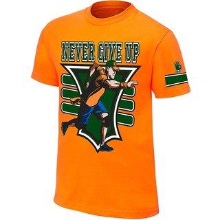 Johncena New Orange Never Give Up Tshirts For Mens