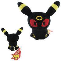 16cm Cute Pokemon Umbreon Sitting Soft Plush Stuffed Teddy Doll Toy Red Eyes#197