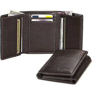 Grahakji Black Leatherite Wallet For Men
